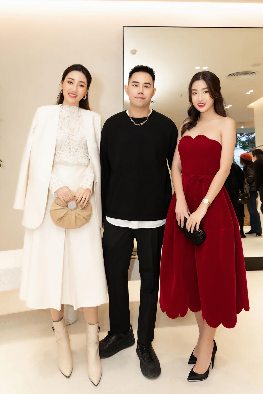 Mỹ Linh, Lương Thùy Linh, Trà Mi khoe vẻ đẹp lộng lẫy trong váy đơn sắc - hình ảnh 1