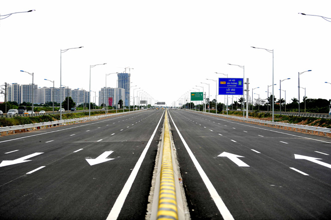 Toàn cảnh nút giao 400 tỉ vành đai 3 với cao tốc Hà Nội – Hải Phòng trước ngày thông xe - hình ảnh 1