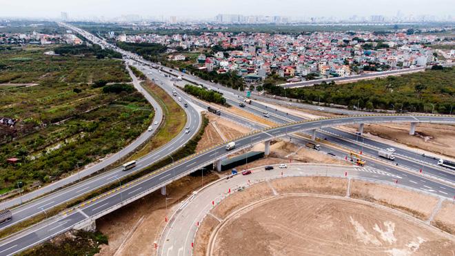 Toàn cảnh nút giao 400 tỉ vành đai 3 với cao tốc Hà Nội – Hải Phòng trước ngày thông xe - hình ảnh 14