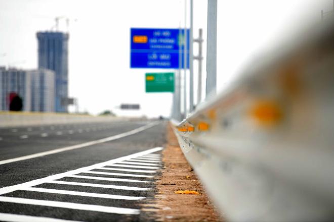 Toàn cảnh nút giao 400 tỉ vành đai 3 với cao tốc Hà Nội – Hải Phòng trước ngày thông xe - hình ảnh 2