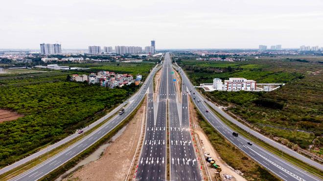 Toàn cảnh nút giao 400 tỉ vành đai 3 với cao tốc Hà Nội – Hải Phòng trước ngày thông xe - hình ảnh 5