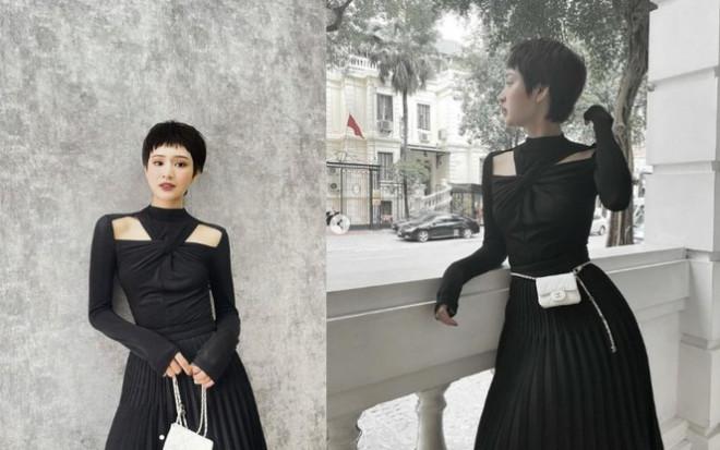 Nhìn 3 người đẹp V-Biz đụng hàng bộ váy đen mới thấy quá mảnh mai chưa chắc đã đẹp - 7