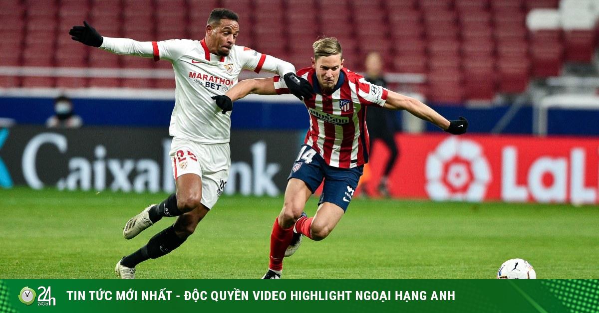 Video Atletico Madrid - Sevilla: Phản công sắc lẹm, 2 đòn choáng váng