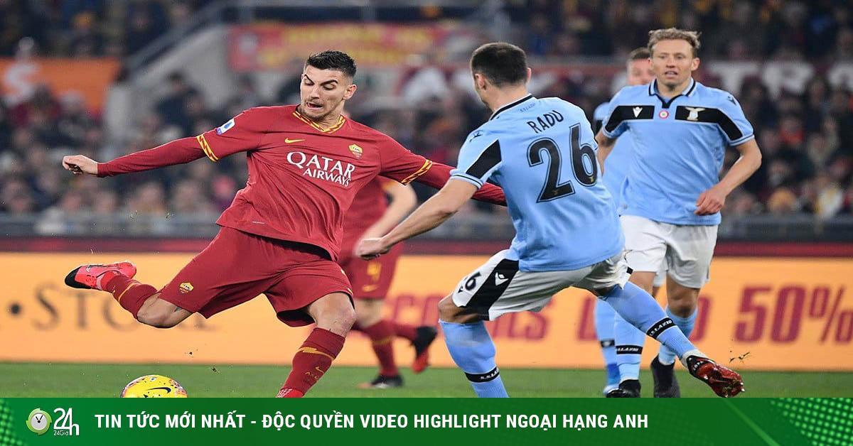 Video Lazio - Roma: Điên rồ derby thành Rome, 2 đòn phủ đầu choáng ngợp