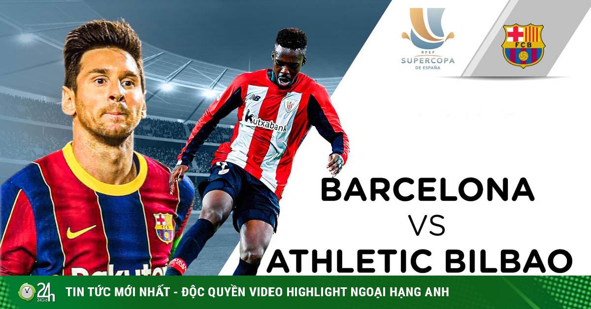 Trực tiếp bóng đá Barcelona - Athletic Bilbao: Messi nhận thẻ đỏ trực tiếp (Hết giờ)