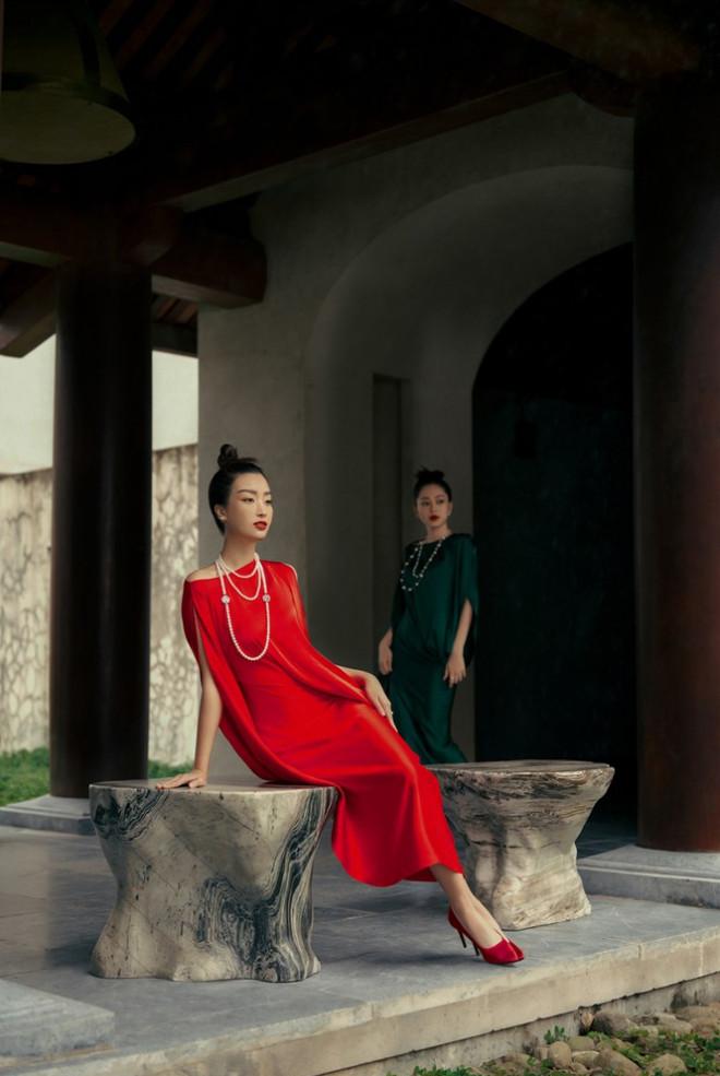 Hoa hậu Đỗ Mỹ Linh gợi ý chọn trang phục áo tứ thân cách điệu cho mùa Tết Tân Sửu - 7