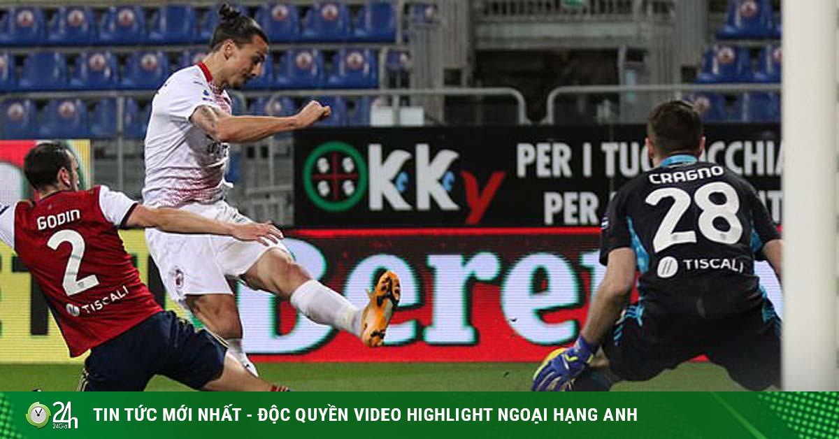 Video Cagliari - AC Milan: Ibrahimovic ghi cú đúp rực rỡ, cắt đuôi Juventus