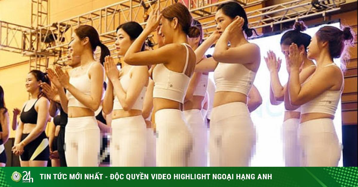 Dàn mỹ nhân mặc xuyên thấu lại gây sốt ở giải Yoga Hàn Quốc