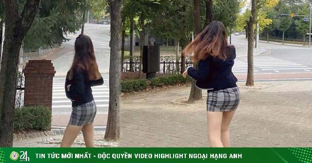 Đồng phục kiệm vải của nữ sinh Hàn khiến nhiều người...