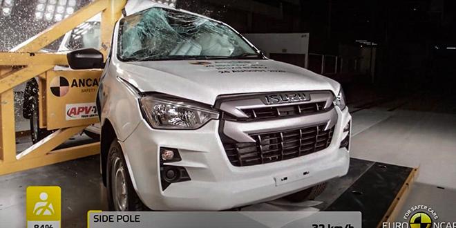 Isuzu D-Max thế hệ mới đạt tiêu chuẩn an toàn 5 sao Euro NCAP