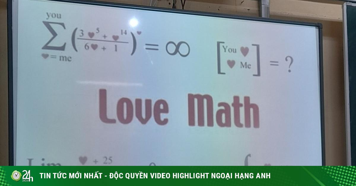 Giáo viên biến hóa đề bài môn Toán thành bài Toán tình yêu, teen lắc đầu vì quá khó!