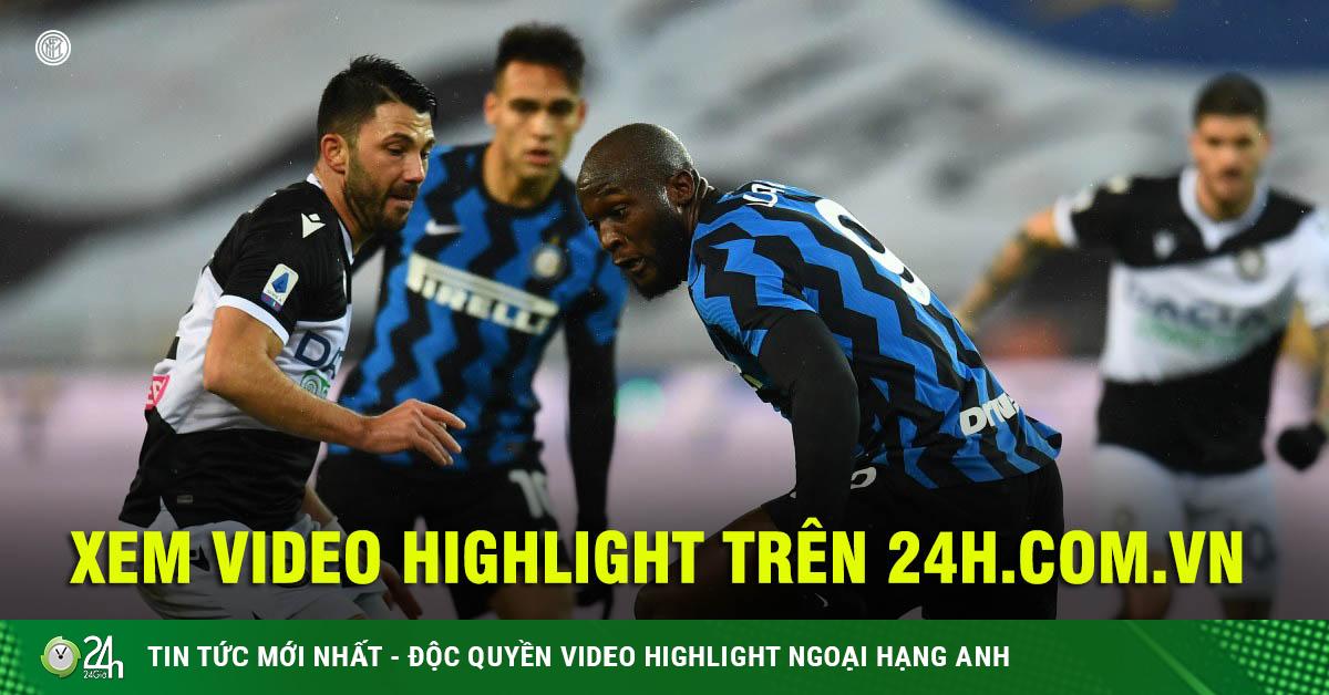 Video Udinese - Inter Milan: Lukaku nỗ lực, tường thép...