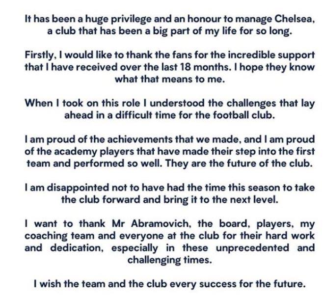 Lampard nói gì sau khi bị Chelsea đuổi & không được tạm biệt cầu thủ? - 3