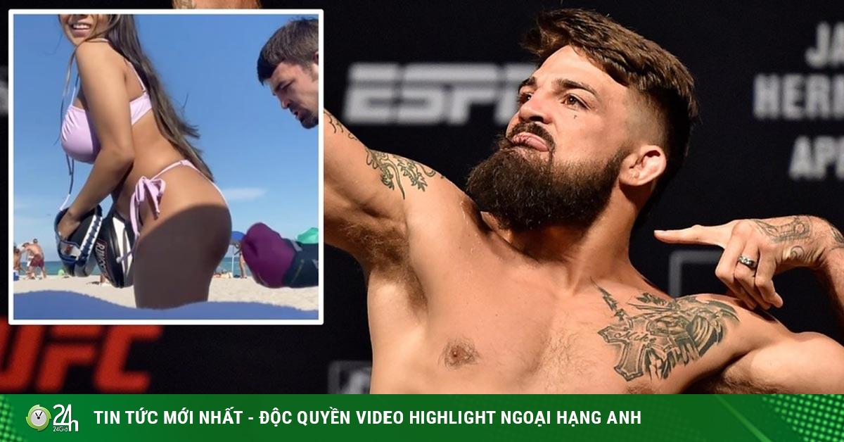 Ngã ngửa võ sỹ UFC tập đấm vào vùng nhạy cảm bạn gái diện bikini