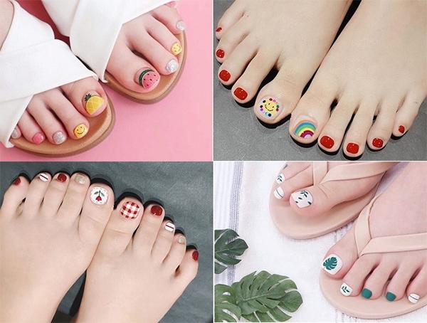Những mẫu móng chân đẹp dễ thương đơn giản được yêu thích nhất hiện nay - hình ảnh 1