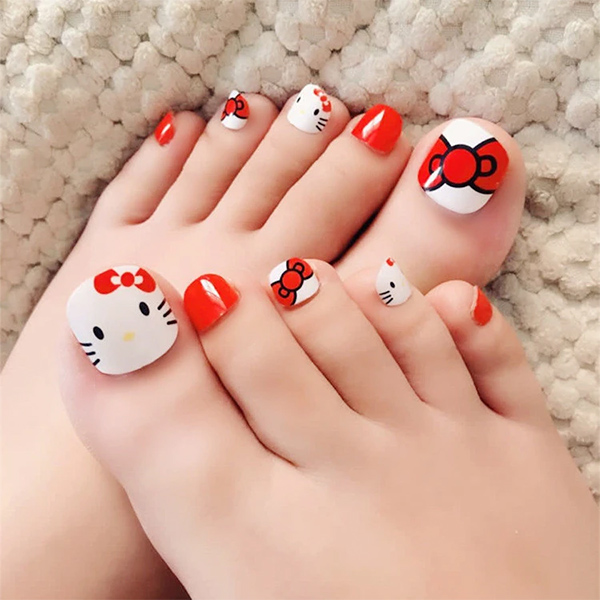 Những mẫu móng chân đẹp dễ thương đơn giản được yêu thích nhất hiện nay - hình ảnh 13