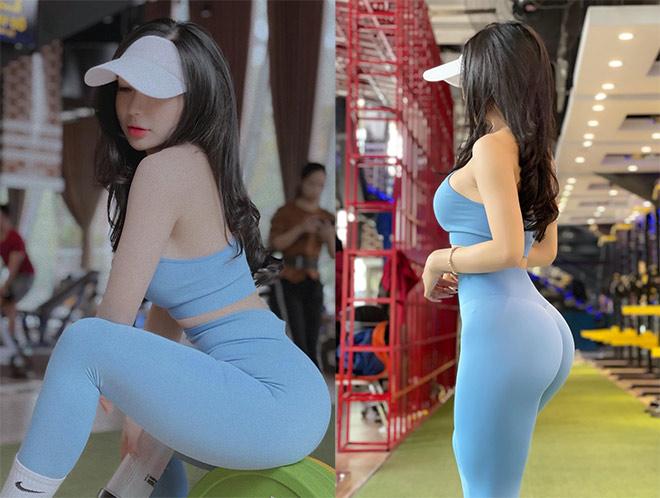 Hot girl tập gym Phạm Hồng Nhung vòng ba gần 100cm nhờ nâng tạ 160kg - 6