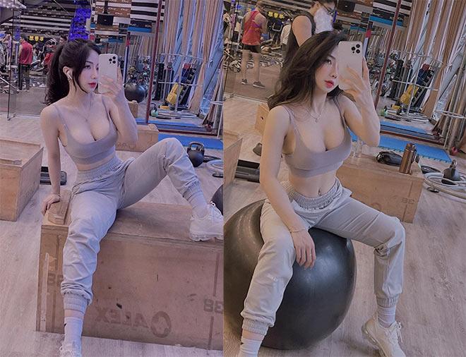 Hot girl tập gym Phạm Hồng Nhung vòng ba gần 100cm nhờ nâng tạ 160kg - 11