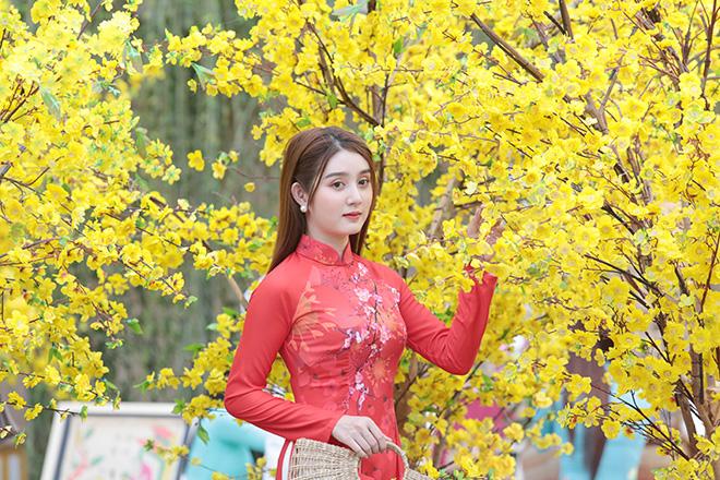 Thiếu nữ Sài Gòn xúng xính áo dài, dạo phố ông đồ những ngày giáp Tết - hình ảnh 9