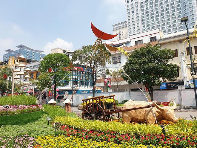 Toa tàu Metro xuất hiện và hình ảnh đường hoa Nguyễn Huệ Tết Tân Sửu 2021 trước ngày khai mạc - hình ảnh 11