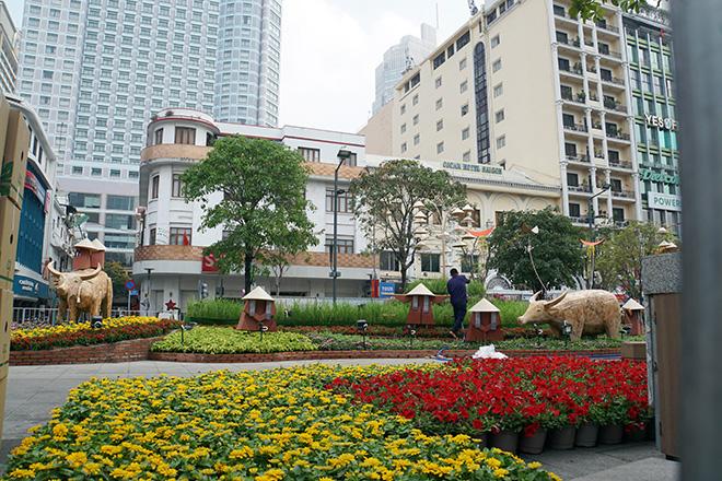 Toa tàu Metro xuất hiện và hình ảnh đường hoa Nguyễn Huệ Tết Tân Sửu 2021 trước ngày khai mạc - hình ảnh 15