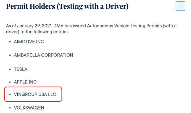 VinFast được cấp phép thử nghiệm xe điện tự hành tại California, Mỹ - 2