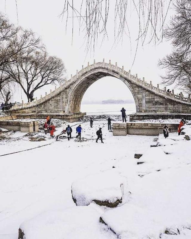 """Khung cảnh tuyết rơi đẹp như tranh vẽ tại """"cung điện mùa hè"""" Di Hòa Viên - 7"""