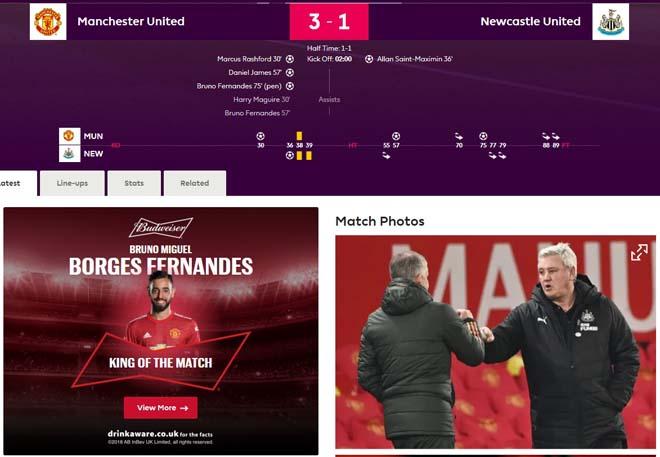 MU đả bại Newcastle: Báo Anh ca ngợi tinh thần