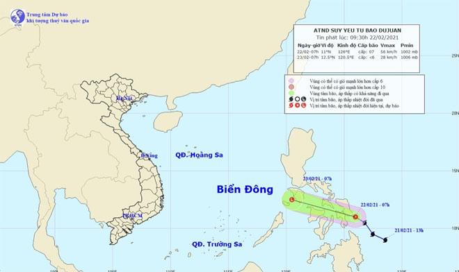 Thông tin mới nhất về bão Đỗ Quyên đang hoạt động gần Biển Đông - hình ảnh 1