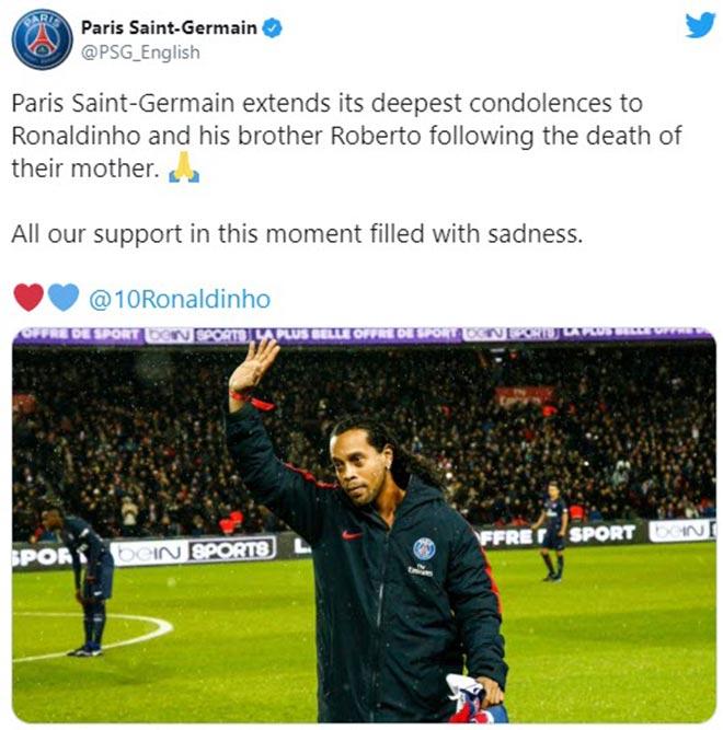 Ronaldinho đau đớn vì mẹ qua đời: Không dự đám tang, Messi chia buồn sâu sắc - 4