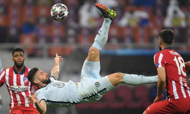 Chelsea thắng Atletico Madrid Cúp C1: Giroud lập kỷ lục như huyền thoại MU - 1
