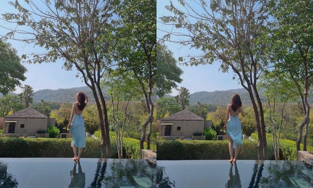 """""""Gái ngành xinh nhất Thái Lan"""" khoe trọn lưng trần với áo """"bánh tét"""" hút 800 nghìn like - hình ảnh 3"""