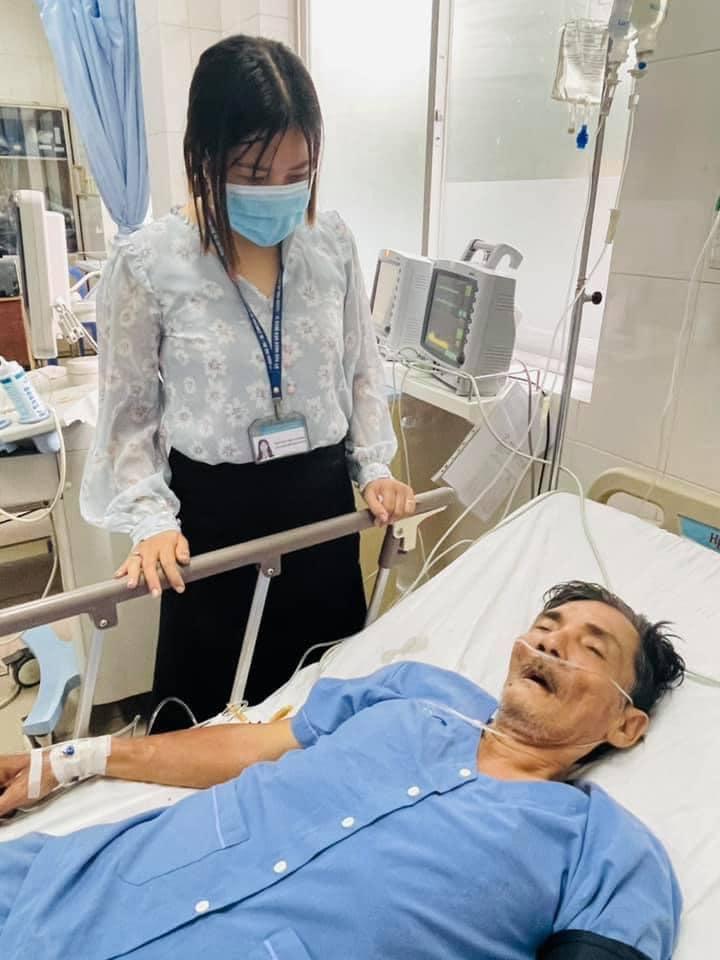 Diễn viên Thương Tín đang nằm viện