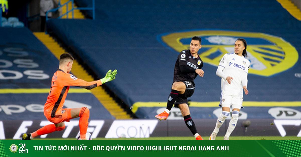 Video Leeds United - Aston Villa: Phủ đầu chớp nhoáng, hú vía phút bù giờ