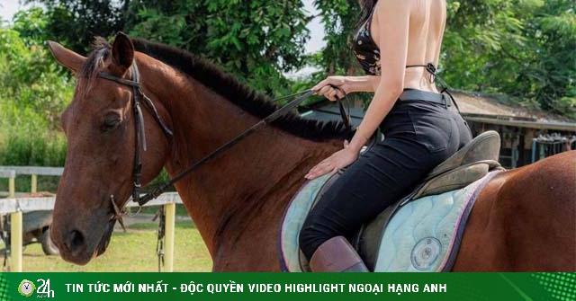 Bóng hồng cả gan mặc đồ lót phóng khoáng cưỡi ngựa, phá vỡ luật ngầm của giới nhà giàu