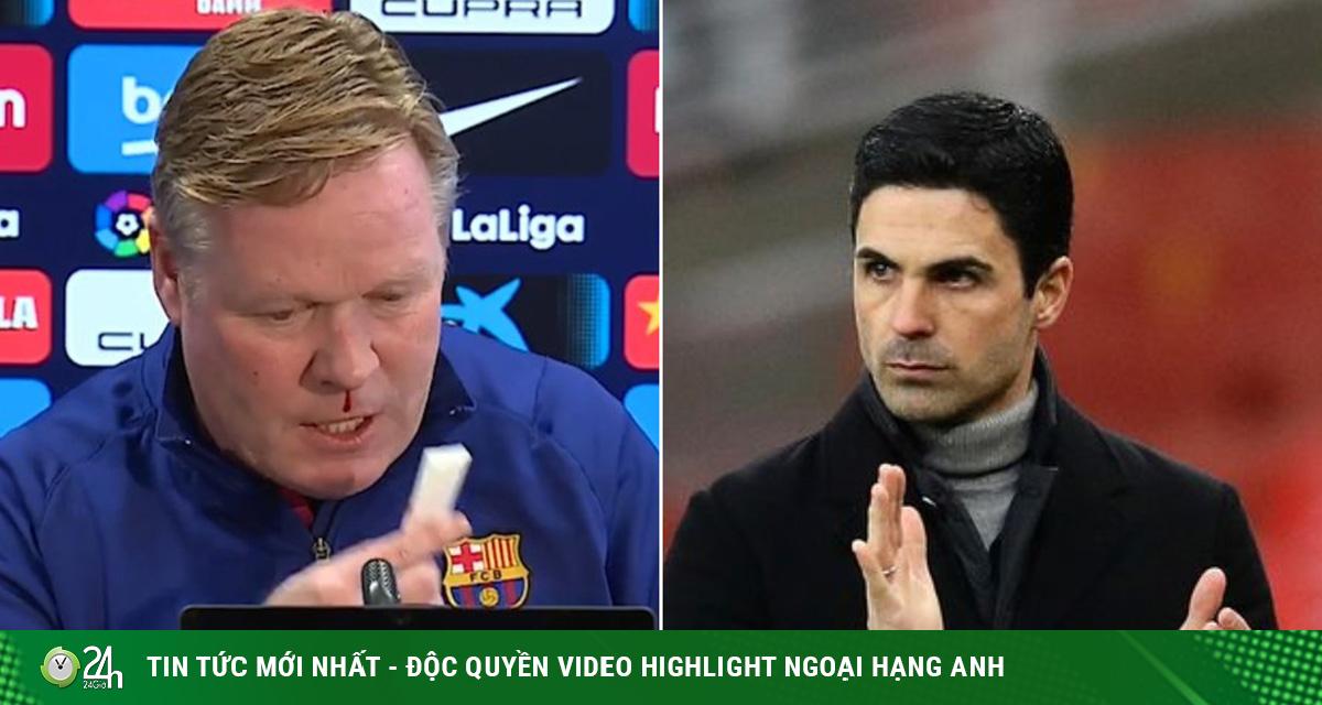 Koeman nguy cơ phải từ chức HLV Barcelona, Arteta có...