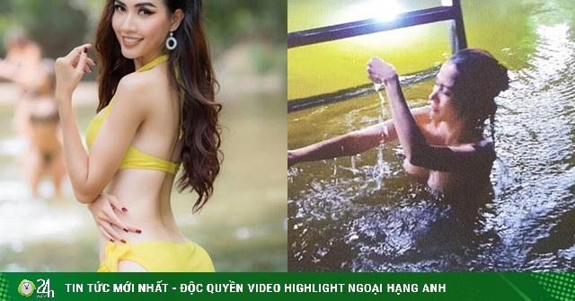 Hoa hậu có vòng 3 một mét sợ bố mẹ xem phim có cảnh tắm tiên suốt 8 tiếng