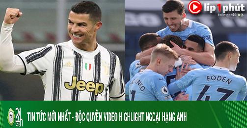 Ronaldo vẫn là Vua dội bom châu Âu, Man City phá nát Derby Manchester (Clip 1 phút Bóng đá 24H)