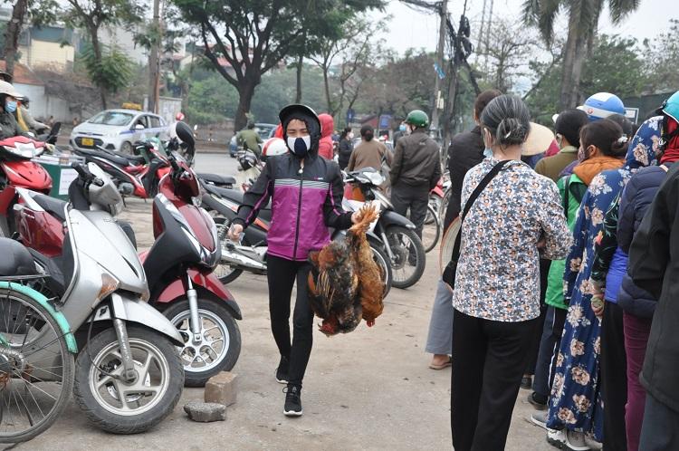 Gà đồi Chí Linh giá chỉ 55.000 đồng/kg, hàng trăm người Hà Nội xếp hàng mua giải cứu - 9