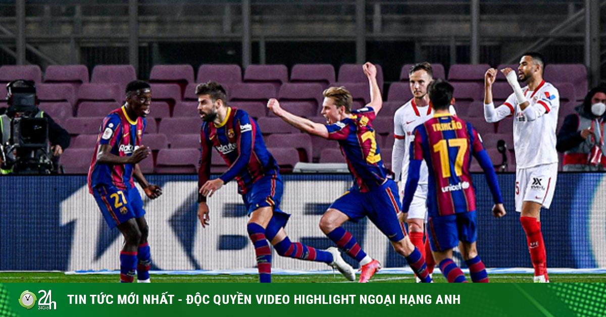 Barca ngược dòng vào chung kết Cúp nhà Vua, HLV Koeman bất an tái đấu PSG