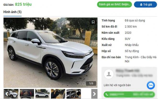 Xe Trung Quốc Beijing X7 cũ đồng loạt được rao bán