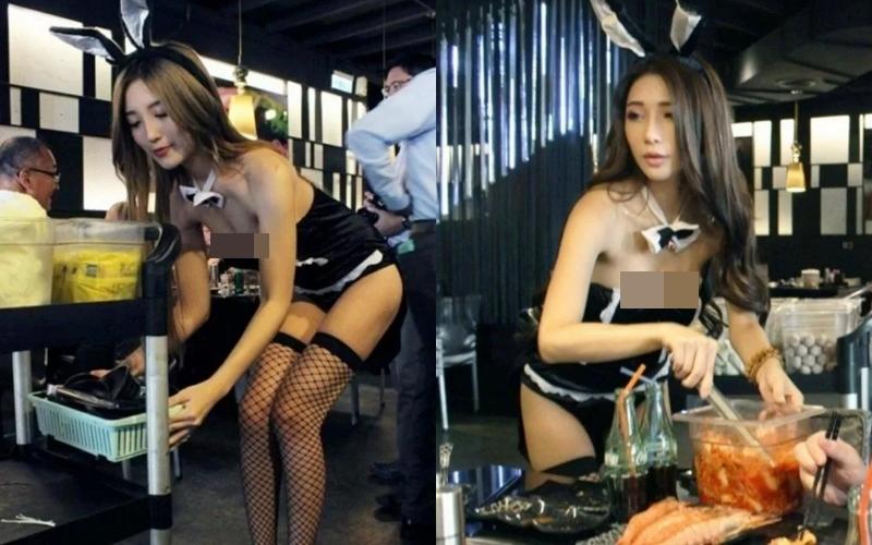 Mặc áo trễ nửa ngực, hot girl bán dứa, bán thịt lợn tiếp khách nườm nượp mua hàng - 4