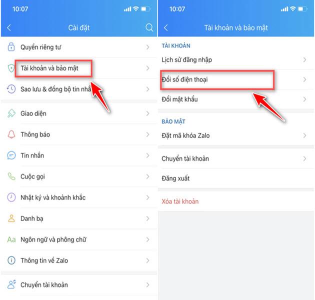 Cách xóa tài khoản Zalo và đổi số điện thoại nhanh nhất - 8