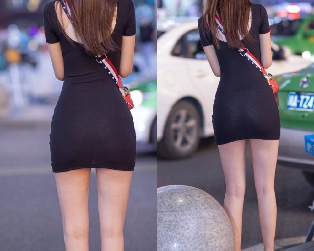 """Đi mua hoa quả, cô gái """"phát sáng"""" giữa phố vì trang phục mỏng dễ nhìn xuyên qua - hình ảnh 2"""