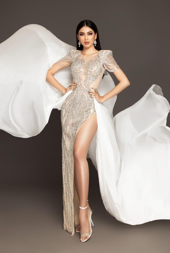 Cận cảnh bộ váy ý nghĩa của của Ngọc Thảo dự thi đêm Bán kết Miss Grand International 2020 - 3