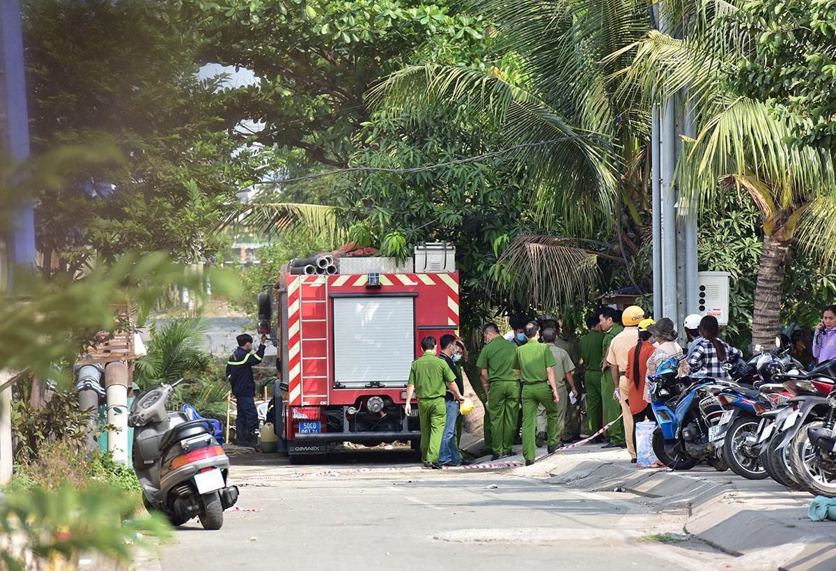 Ảnh: Hiện trường vụ cháy kinh hoàng khiến 6 người trong gia đình tử vong - hình ảnh 1