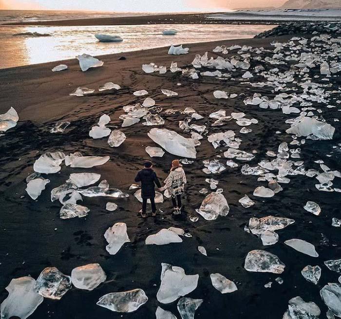 """Bãi biển """"kim cương"""" tuyệt đẹp ở Iceland - hình ảnh 2"""