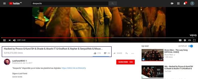 """""""Siêu phẩm"""" Despacito với 5 tỷ lượt xem bị hacker xoá sổ khỏi YouTube - hình ảnh 1"""