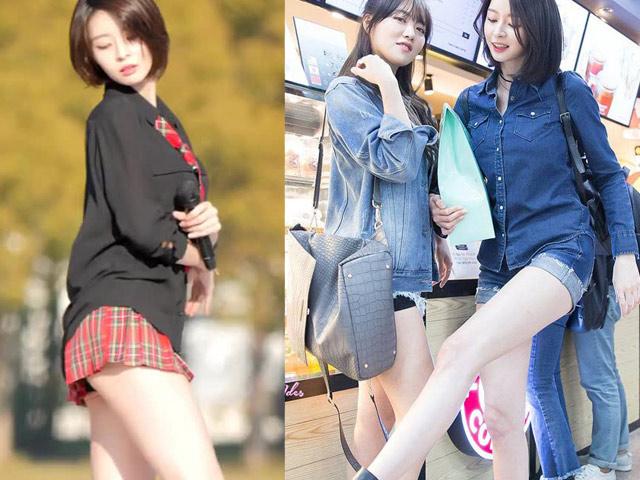 Đôi chân thẳng nuột, dài 106 cm đẹp nhất làng nhạc Hàn