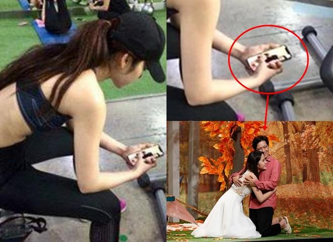 Xôn xao ảnh Nam Em đang ngắm hình ôm Trường Giang trên điện thoại - hình ảnh 1